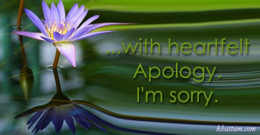 I Am Sorry eCards